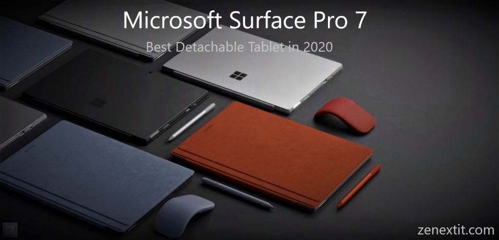 Microsoft Surface Pro 7, best detachable tablet in 2020