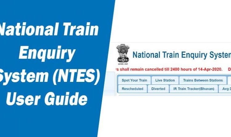 National Train Enquiry System NTES- Complete User Manual Guide